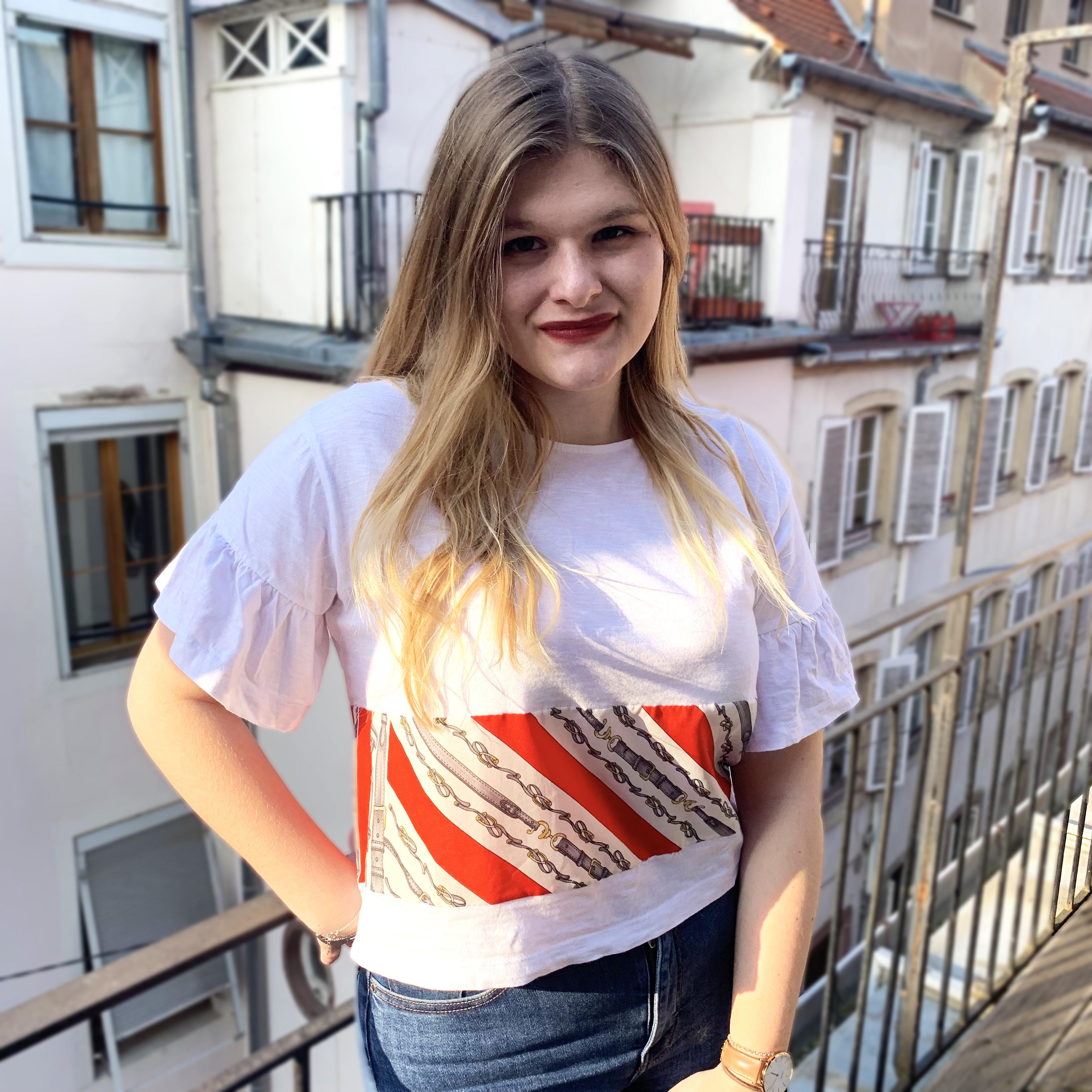 T-shirt bi-matière customisé